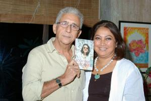 Karen and Naseruddin Shah at her book launch