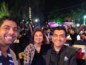 Ranveer Brar, Karen Anand and Sanjeev Kapoor